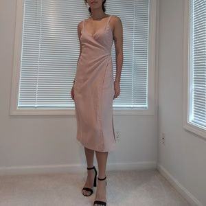 Wilfred Linen Wrap Midi Dress